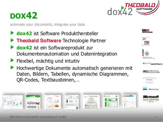 4 dox42 ist Software Produkthersteller Theobald Software Technologie Partner dox42 ist ein Softwareprodukt zur Dokumentena...