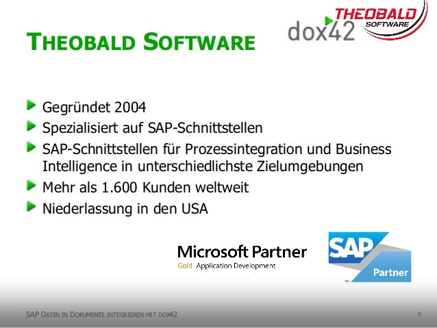 5 Gegründet 2004 Spezialisiert auf SAP-Schnittstellen SAP-Schnittstellen für Prozessintegration und Business Intelligence ...