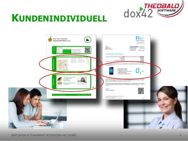 8 KUNDENINDIVIDUELL SAP DATEN IN DOKUMENTE INTEGRIEREN MIT DOX42