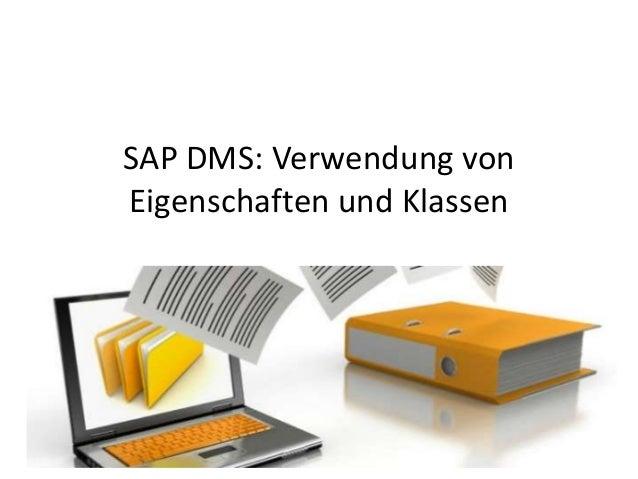 SAP DMS: Verwendung von Eigenschaften und Klassen