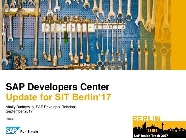 SAP D&T Developer UpdateVitaliy Rudnytskiy – Developer Evangelist, SAP TIP Developer ExperienceDecember 8, 2012