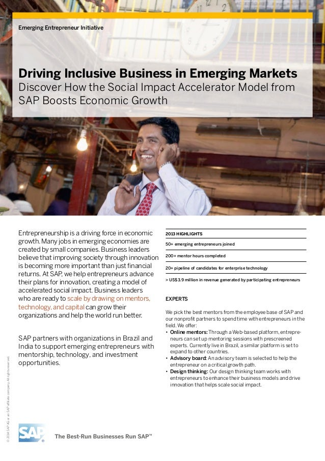 Emerging Entrepreneur Initiative  Driving Inclusive Business in Emerging Markets Discover How the Social Impact Accelerato...