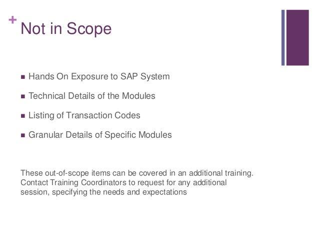 SAP ERP Overview for Laymen Slide 2
