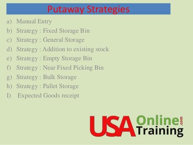 SAP EWM Putaway Strategies