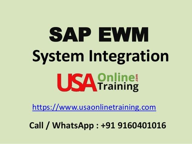 SAP EWM System Integration