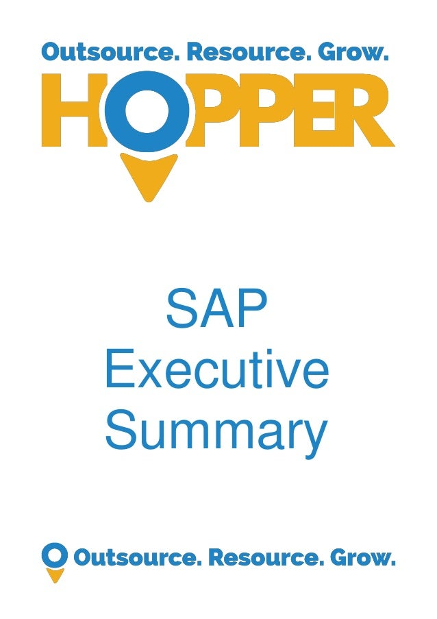 SAP Executive Summary