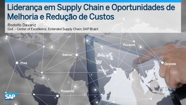 © 2015 SAP SE or an SAP affiliate company. All rights reserved. Liderança em Supply Chain e Oportunidades de Melhoria e Re...