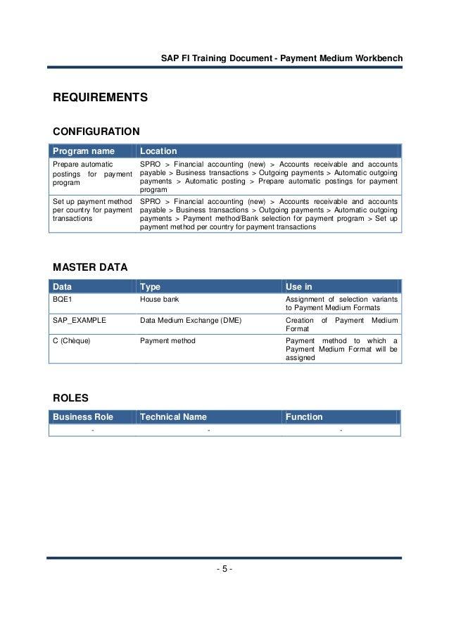 Sap fi payment medium workbench configuration