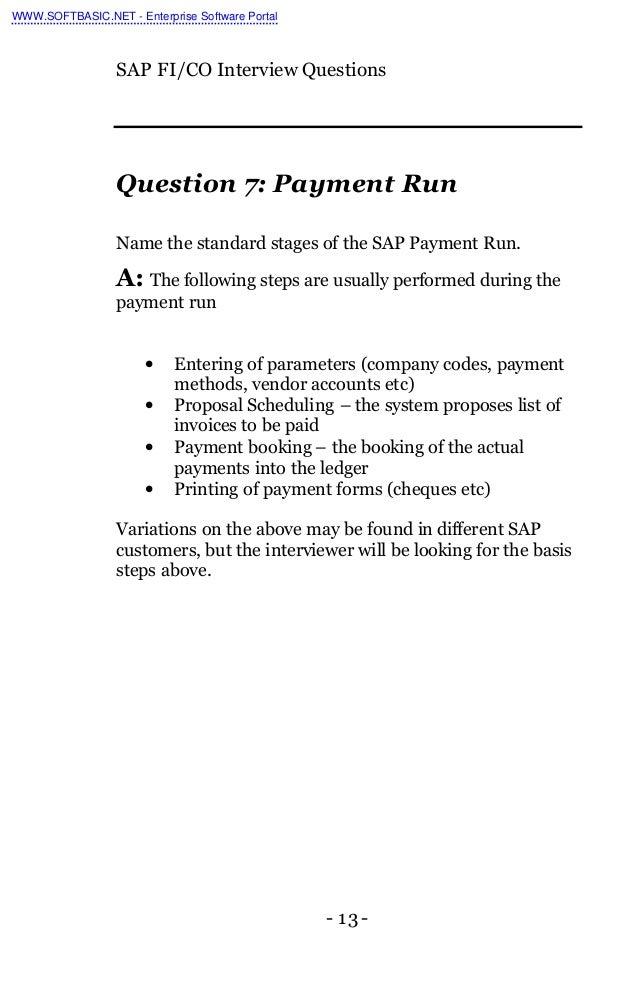 fi co interview questions Sap certification questions with answers, sap interview questions and answers.