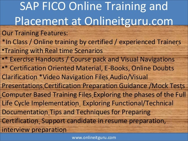 Sap Fico Online Training And Placement Assistance