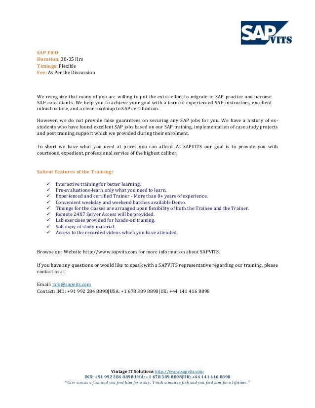 SAP FICO Training Material PDF
