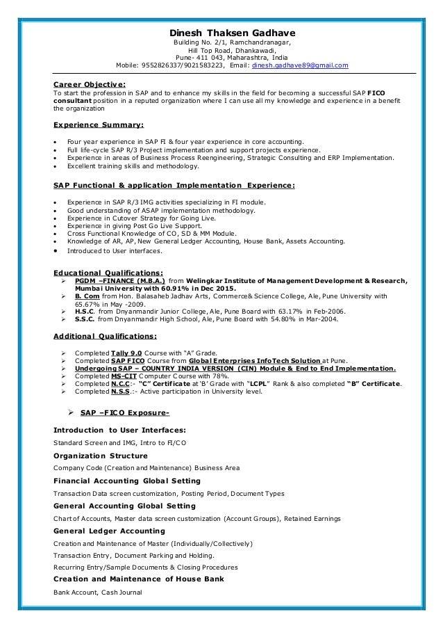 SAP FICO consultants certification Training course
