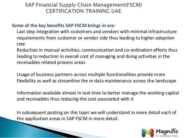 sap financial supply chain management fscm certification. Black Bedroom Furniture Sets. Home Design Ideas
