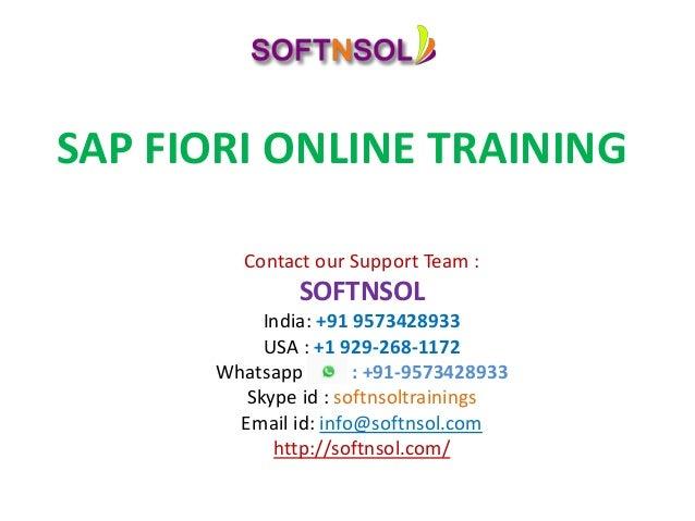Fiori Online.Sap Fiori Online Classes In Usa Sap Fiori Online Training