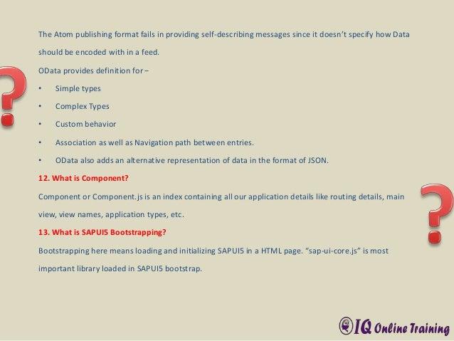 SAP Fiori Interview Q& A - IQ Online Training