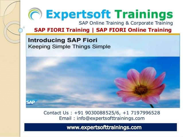 Fiori Online.Sap Fiori Online Training Meterial By Expertsoft