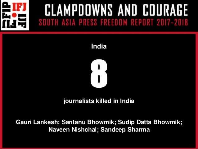South Asia Press Freedom Report 2018 Presentation