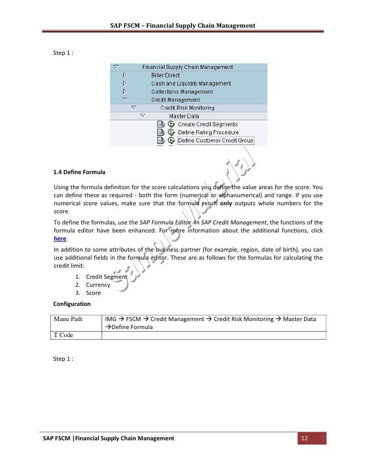 sap fscm training material rh slideshare net fscm credit management configuration guide pdf Fscm Number