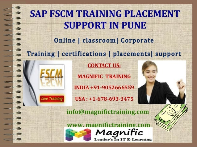 SAP FSCM TRAINING PLACEMENT SUPPORT IN PUNE Online | classroom| Corporate Training | certifications | placements| support ...