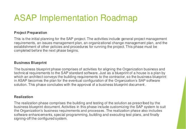 Sap fundamentals project preparation business blueprint realization final preparation go live support 25 malvernweather Gallery