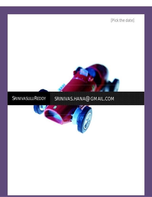 [Pick the date]SRINIVASULUREDDY     SRINIVAS.HANA@GMAIL.COM  Srinivasulureddy                                  Page 1