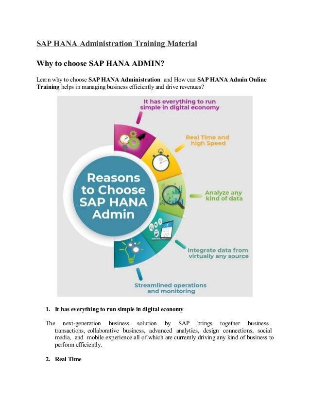 SAP HANA Administration PPT