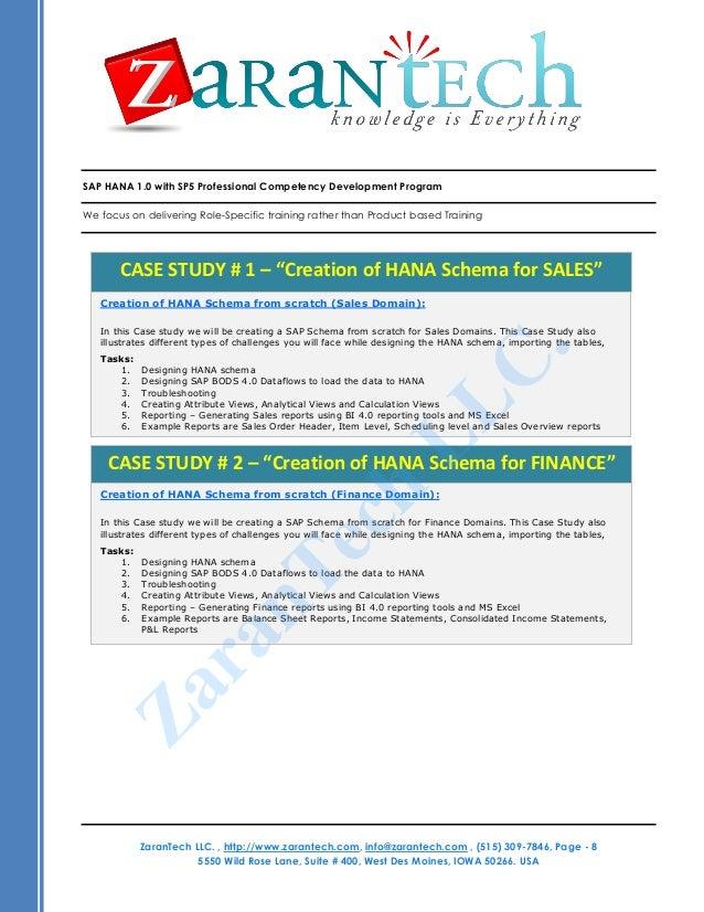 sap hana certification training