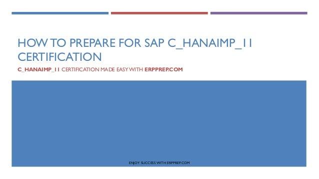 SAP HANA C_HANAIMP_11 exam detail