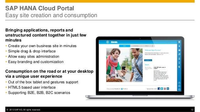 SAP HANA Cloud Portal