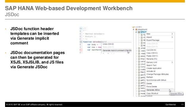 Sap hana sps10 sap hana development tools for Jsdoc templates