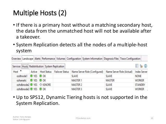 SAP HANA System Replication - Setup, Operations and HANA