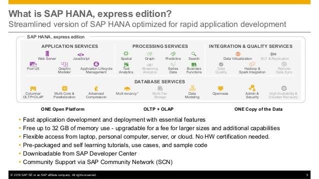 sap hana  express edition introduction deck