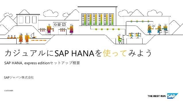 CUSTOMER SAP HANA SAP HANA, express edition SAP