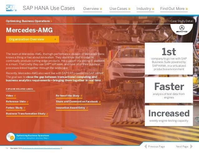 Discover customer use case studies of SAP HANA on IBM ...