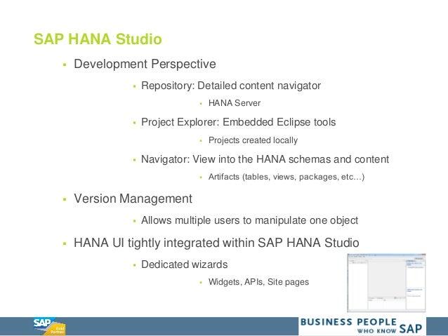 SAP HANA Native Application Development