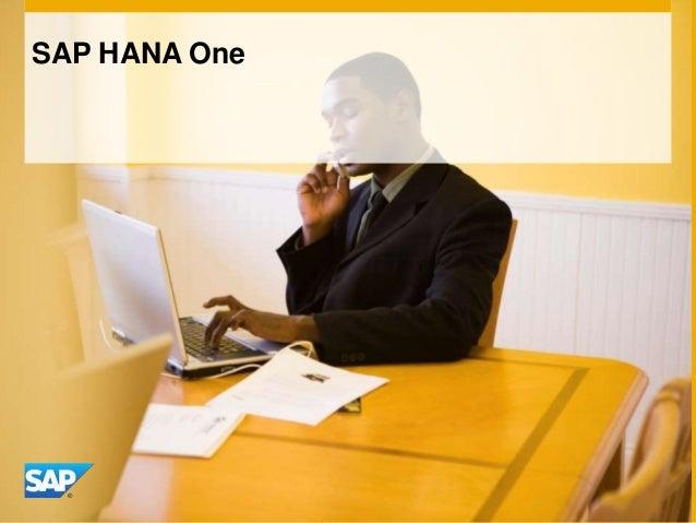 SAP HANA One