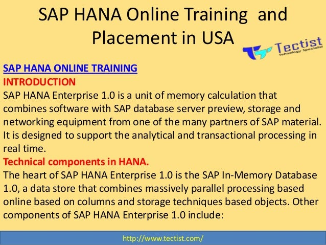 sap hana training material pdf