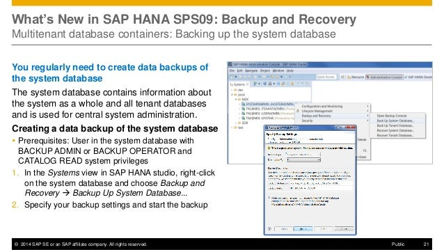 hana backup and recovery Virtualized environments, with comprehensive, integrated backup and restore  facilities february 2015 protecting sap hana with emc networker.