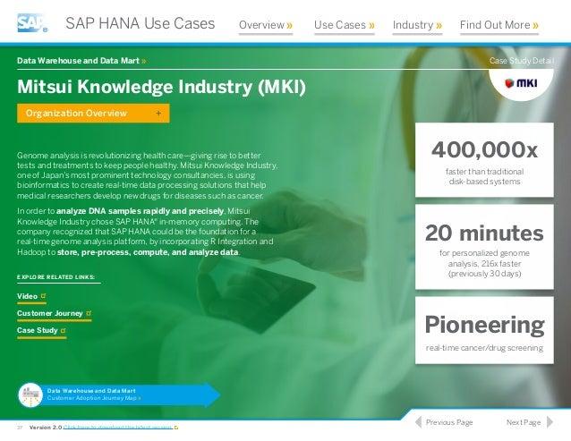 SAP HANA – CASE STUDY (USA)   EIM Solutions