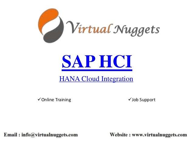 SAP HCI HANA Cloud Integration Online Training Job Support