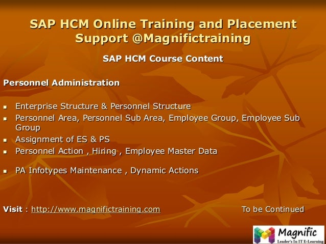 Sap Hcm Human Capital Management Certification Course In