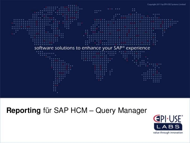 Reporting für SAP HCM – Query Manager