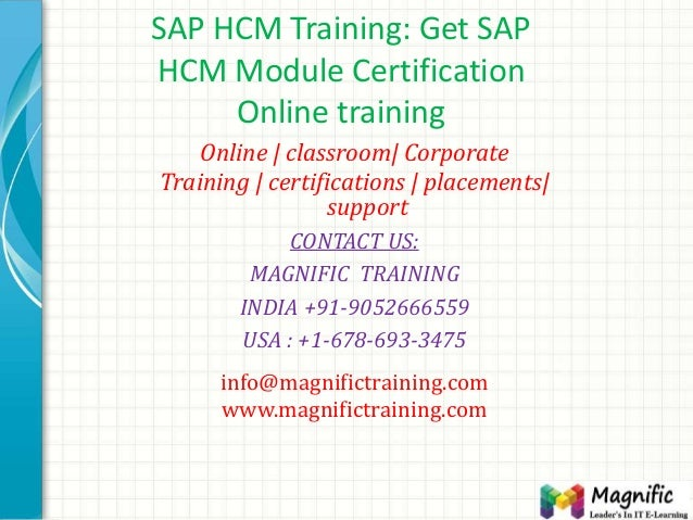 SAP HCM Training: Get SAP HCM Module Certification Online training Online | classroom| Corporate Training | certifications...