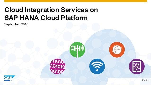 Cloud Integration Services on SAP HANA Cloud Platform