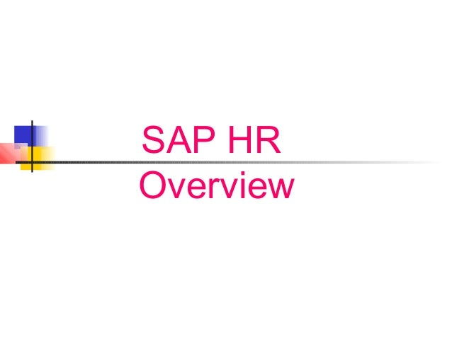 SAP HR Overview