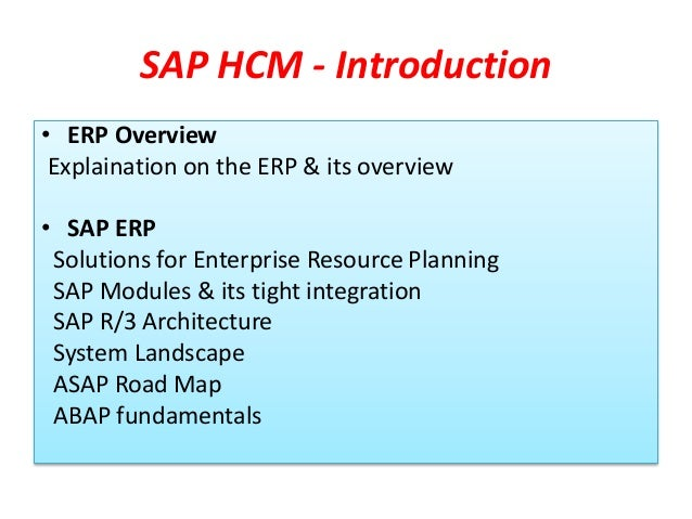 Sap hr hcm advance level training demo for Sap r 3 architecture