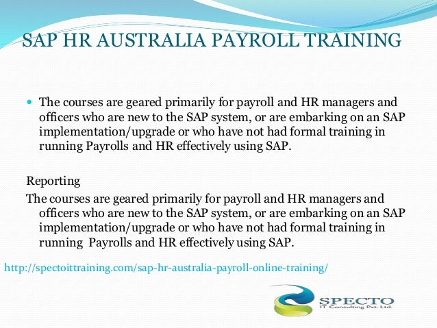 payroll basics in sap