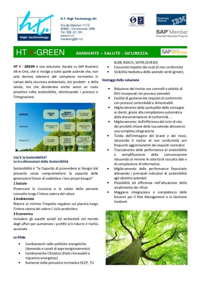 8177310220                                 H.T. High Technology Srl                                 Via dei Mestieri 11/13...