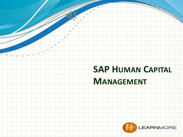 SAP HUMAN CAPITAL MANAGEMENT