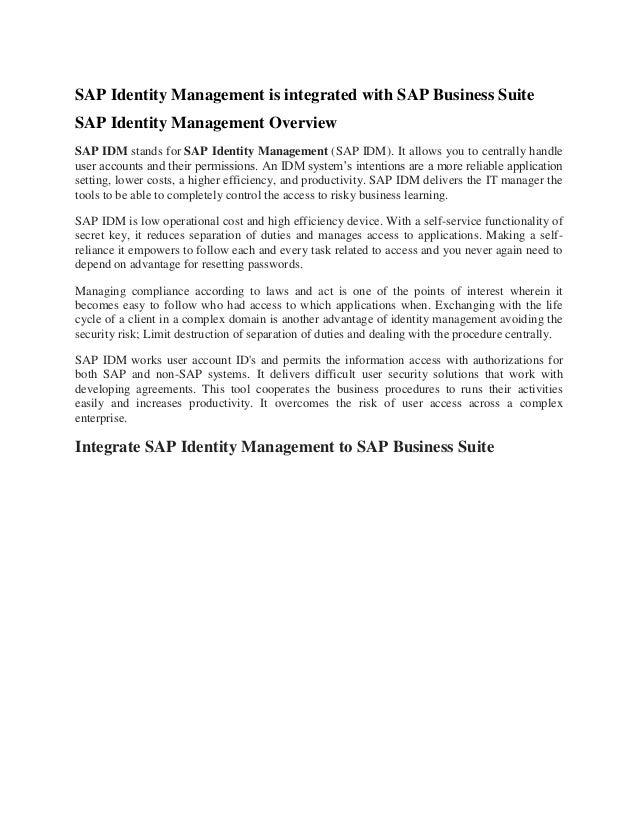 Sap management pdf information with enterprise